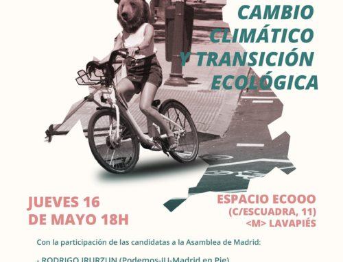 Debate candidatos/as a la Comunidad de Madrid sobre cambio climático y transición ecológica